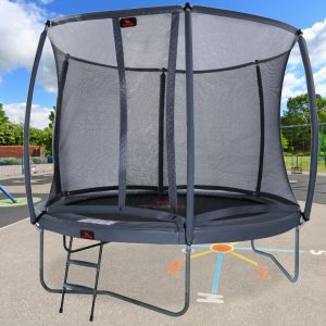 14ft Dino Trampoline including safety net ladder