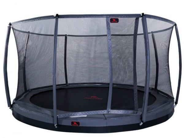 DTGR-10 12ft flat level trampoline including safety net